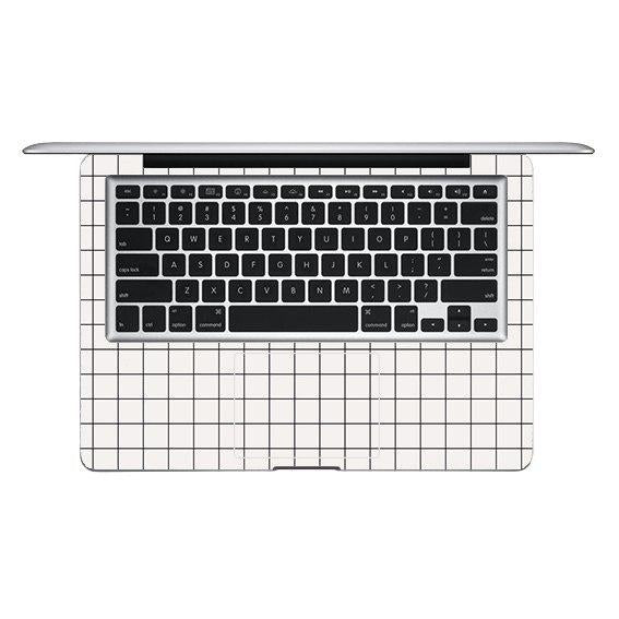 WHITE GRID MACBOOK SKIN