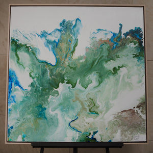 "36"" x 36"" Earth flow"