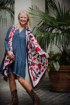 Texas Tech Otomi Inspired Scarf