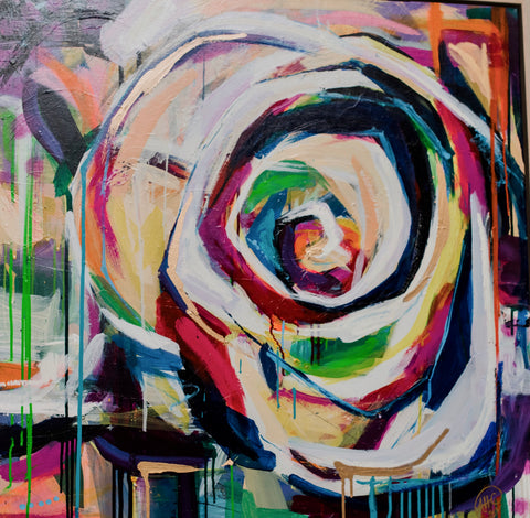 "36"" x 36"" ""Party Rose"""