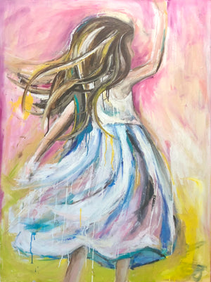 "SOLD 36"" x 48"" Twirl"