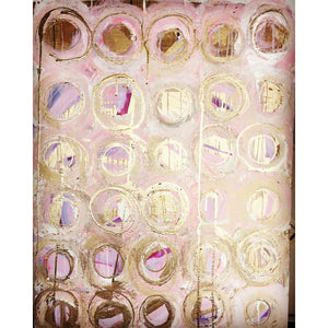 "30""x40"" ""Pink Champagne Bubbles"""