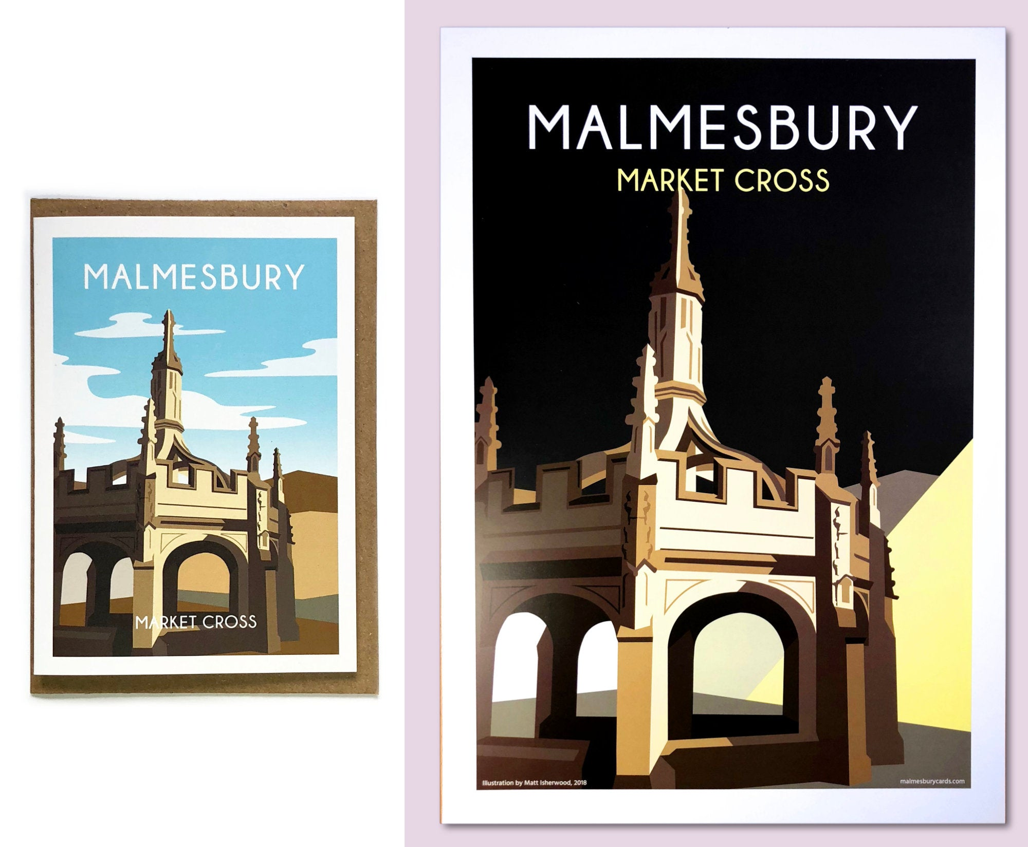 Market Cross greetings card and poster