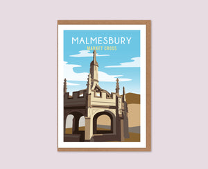 Malmesbury Market Cross daytime greetings card