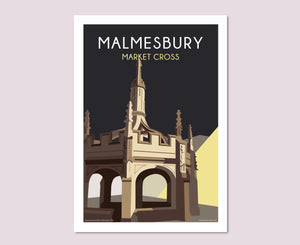 Malmesbury Market Cross Night Poster