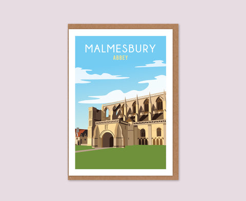 Malmesbury Abbey daytime greetings card