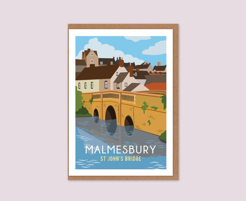 Malmesbury St John's Bridge Greeting Card