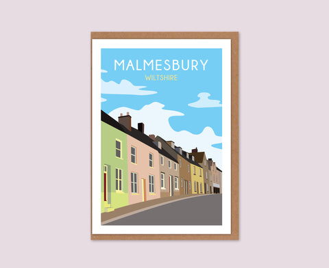 Malmesbury street greetings card