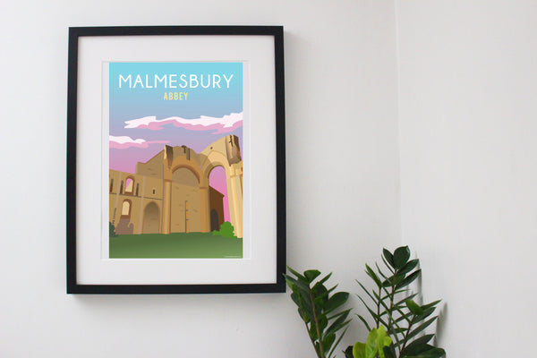 Malmesbury Abbey Ruins Sunset Poster retired