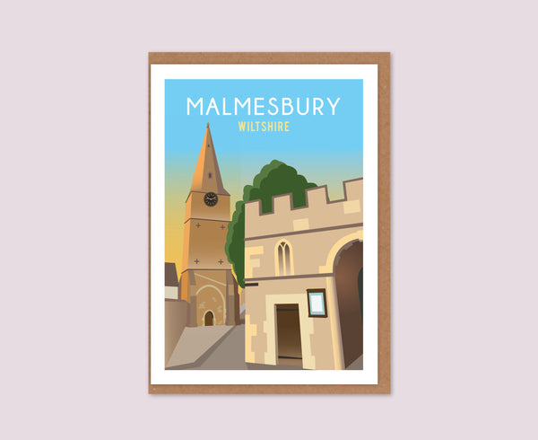 Malmesbury Bell Tower Greeting Card