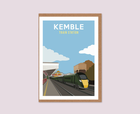 Kemble Train Station Greeting Card