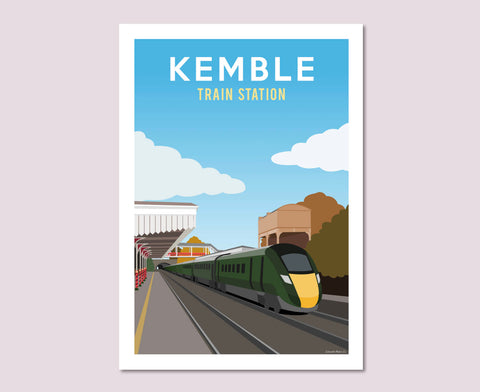Kemble Train Station Poster