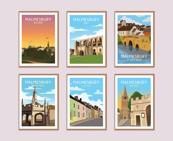 The Malmesbury Greeting Card Box (6 Cards)