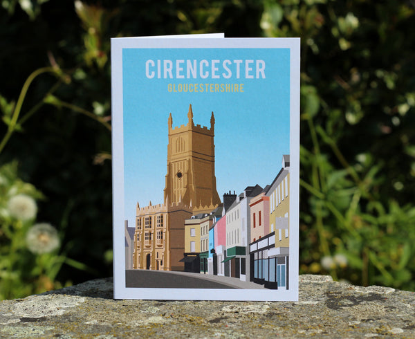 Cirencester Church & Marketplace Greetings Card