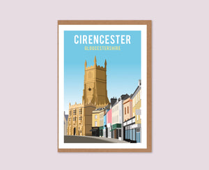 Cirencester Church & Marketplace Greeting Card