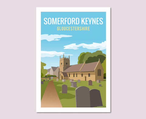 Somerford Keynes Church Poster