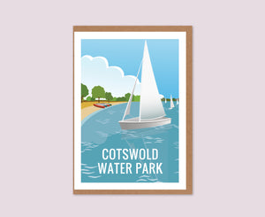 Cotswold Water Park Greeting Card