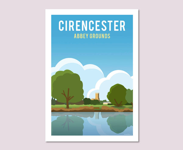 Cirencester Abbey Grounds Poster