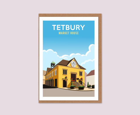 Tetbury Market House Greetings Card