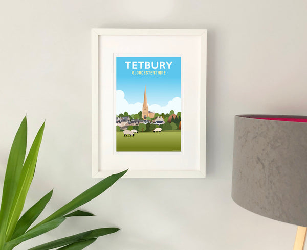 Tetbury Church Poster in white frame