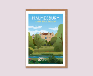 Malmesbury Abbey House Gardens Greeting Card