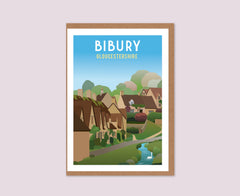 Bibury Arlington Row greeting card