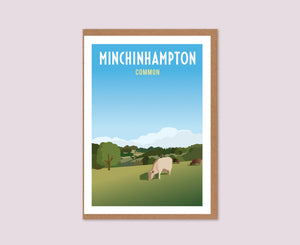 Minchinhampton Common Greeting Card