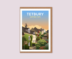 Tetbury Chipping Steps greeting card