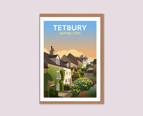 Tetbury Chipping Steps Greetings Card