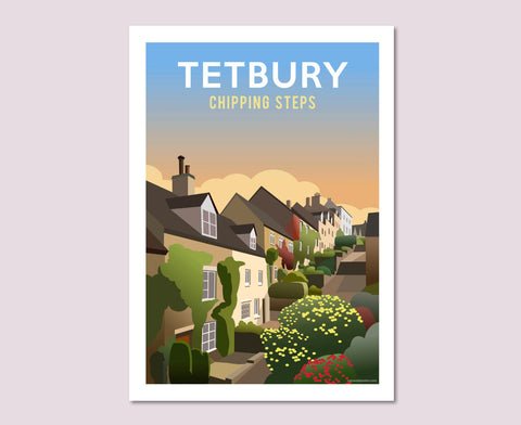 Tetbury Chipping Steps Poster