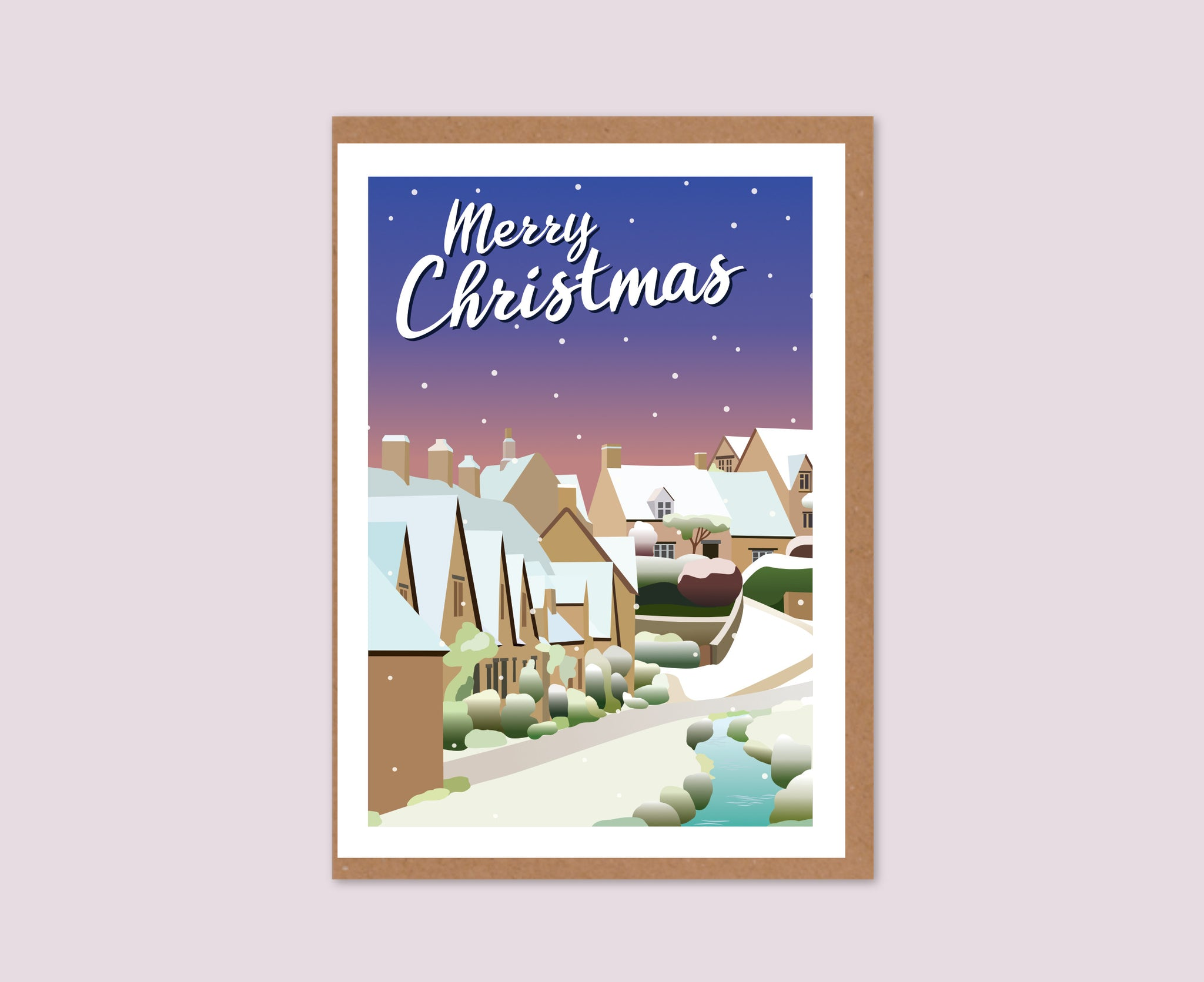 Bibury Christmas Card