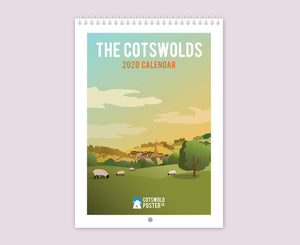 Cotswold Travel Poster Calendar 2020