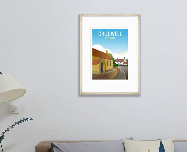 Crudwell Poster in wood frame