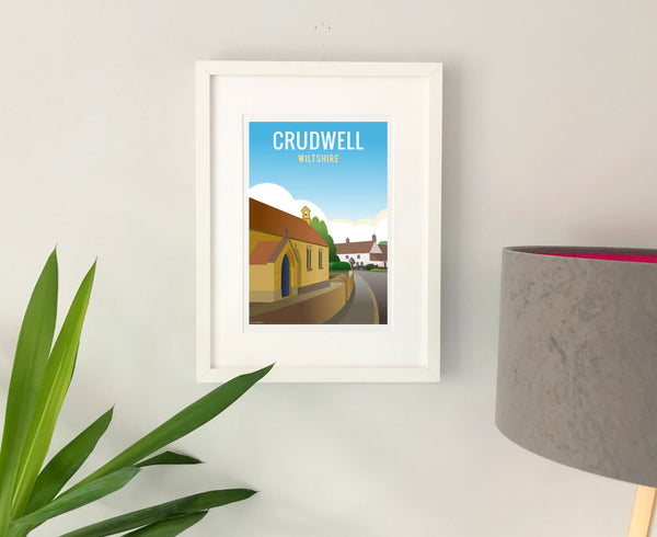 Crudwell Poster in white frame