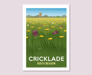 Cricklade North Meadow Poster