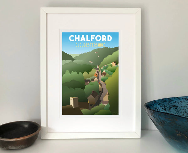 Chalford Poster in white frame