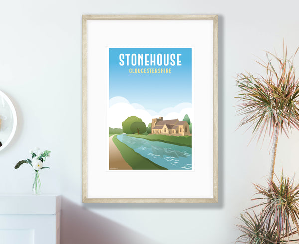 Stonehouse Poster in wood frame