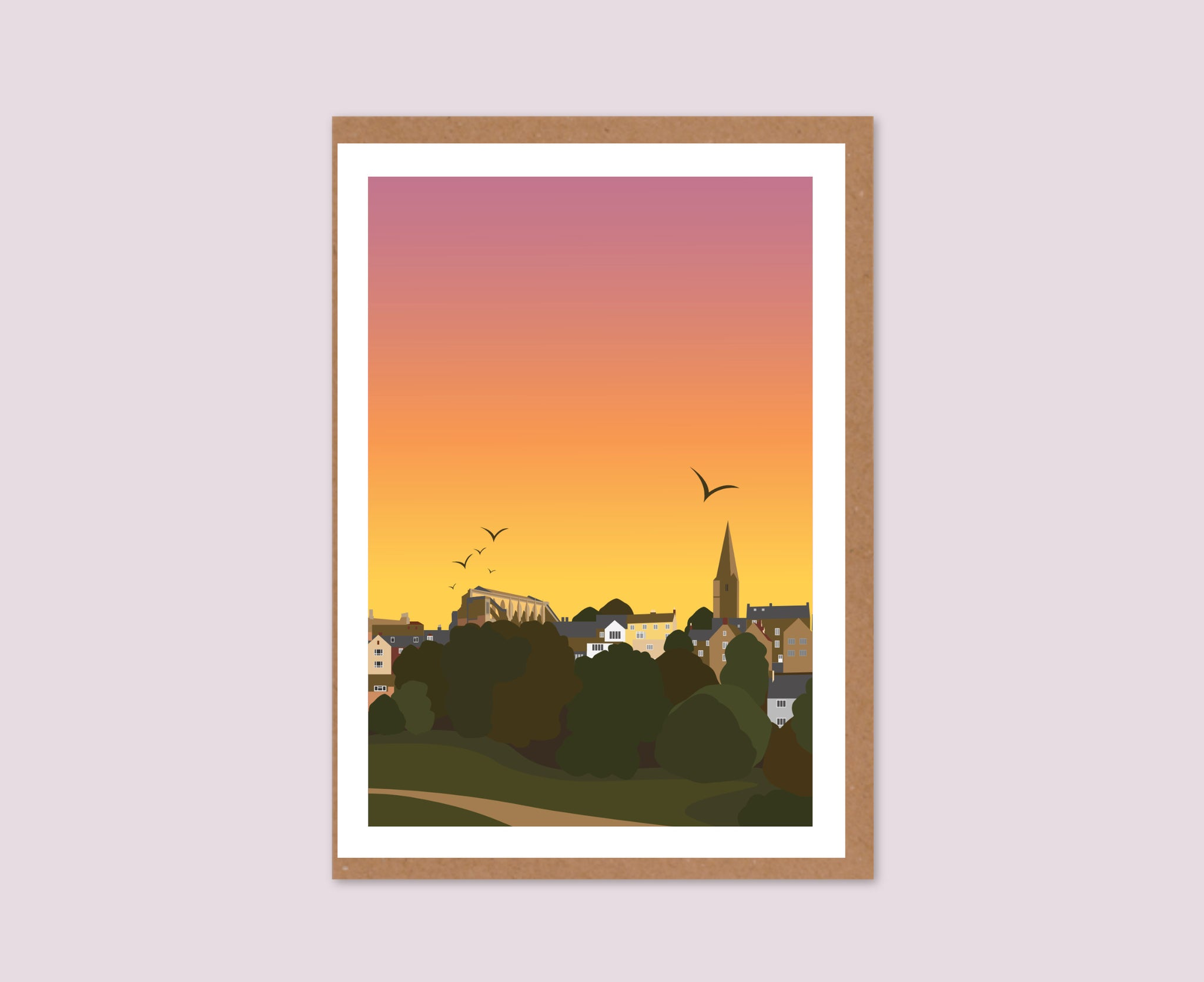Malmesbury Sunset Text-Free Greeting Card