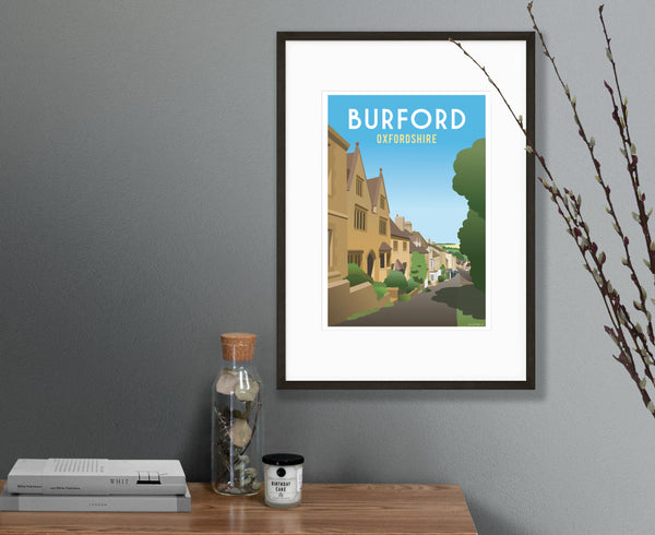 Burford Poster in black frame