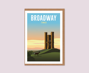 Broadway Tower Greeting Card