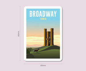 Broadway Tower Fridge Magnet