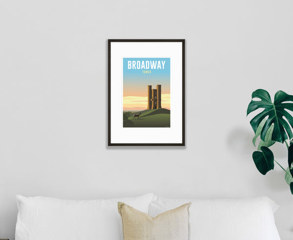 Broadway Tower Poster in black frame