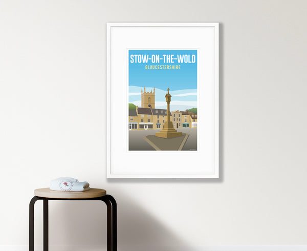 Stow-on-the-Wold Poster in white frame