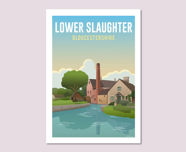 Lower Slaughter Poster