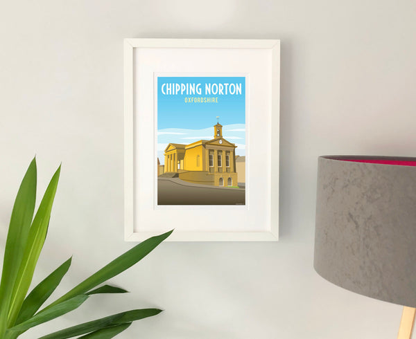 Chipping Norton Poster in white frame