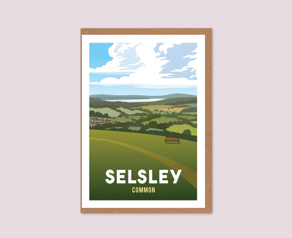 Selsley Common Greeting Card