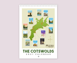 Cotswold Travel Poster Calendar 2021