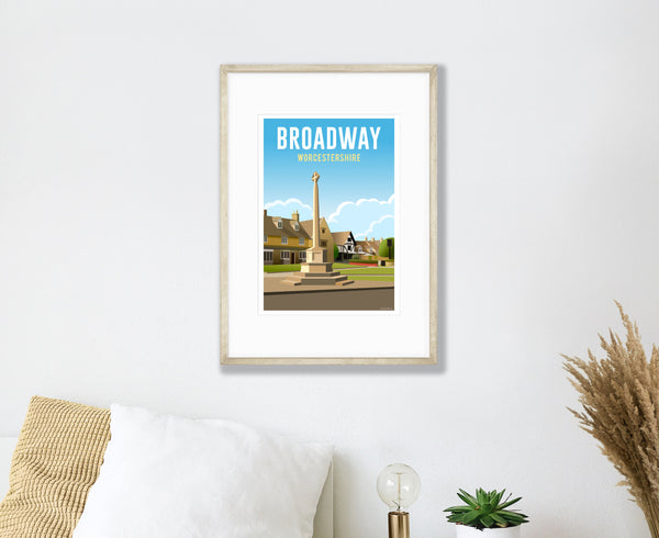 Broadway Poster in wood frame