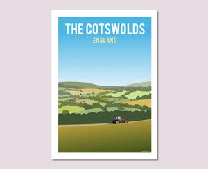 The Cotswold Hills Poster