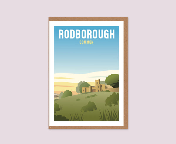 Rodborough Common Fort Greeting Card